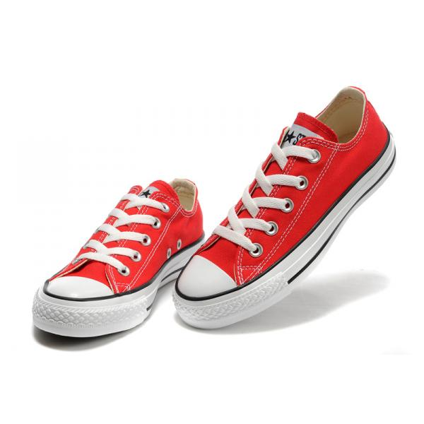 2c4635a7d3f72 Chaussure Converse Chuck Taylor All Star Classic Basse Femme Rouge