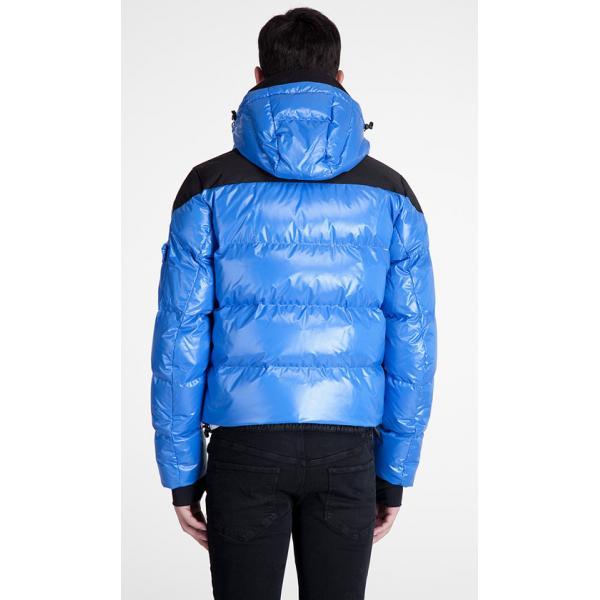 1f4e591efcf ... Doudoune Moncler Ski Homme Bleu Noir ...