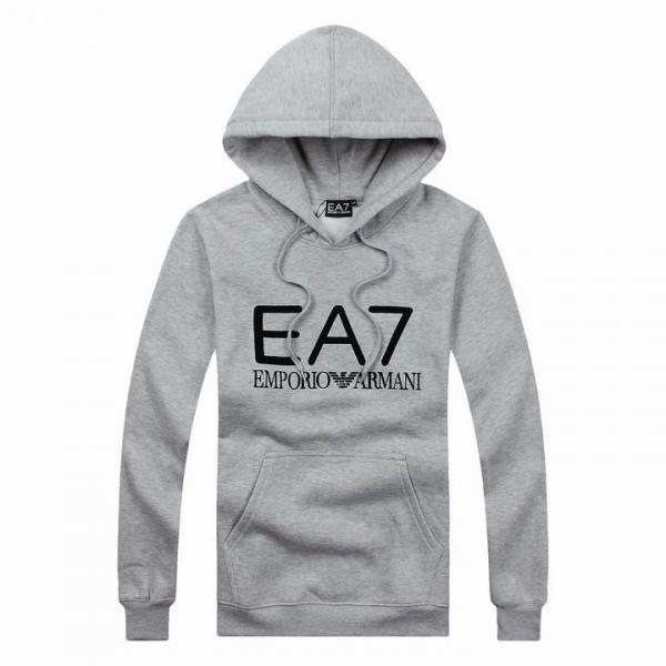 e1e05416f1b Sweat Emporio Armani EA7 Gris Homme à Prix Discount
