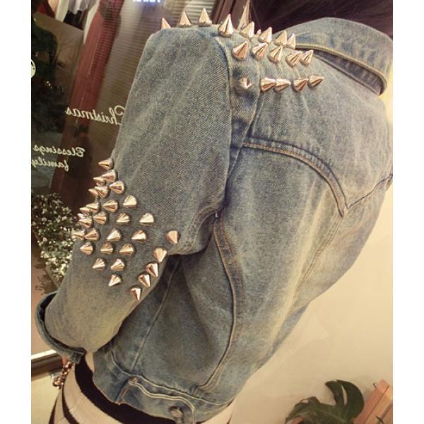 Veste en jean cloutée femme 1c7904af56fc