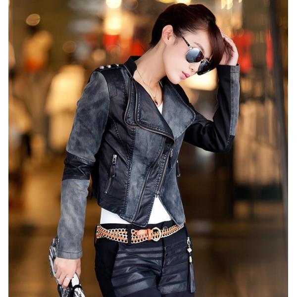 Veste en jean clouté femme 907b4483121b
